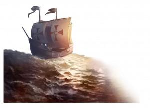 EU4. Рисунок корабля исследователей
