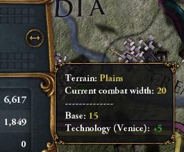 EU4. Ширина фронта